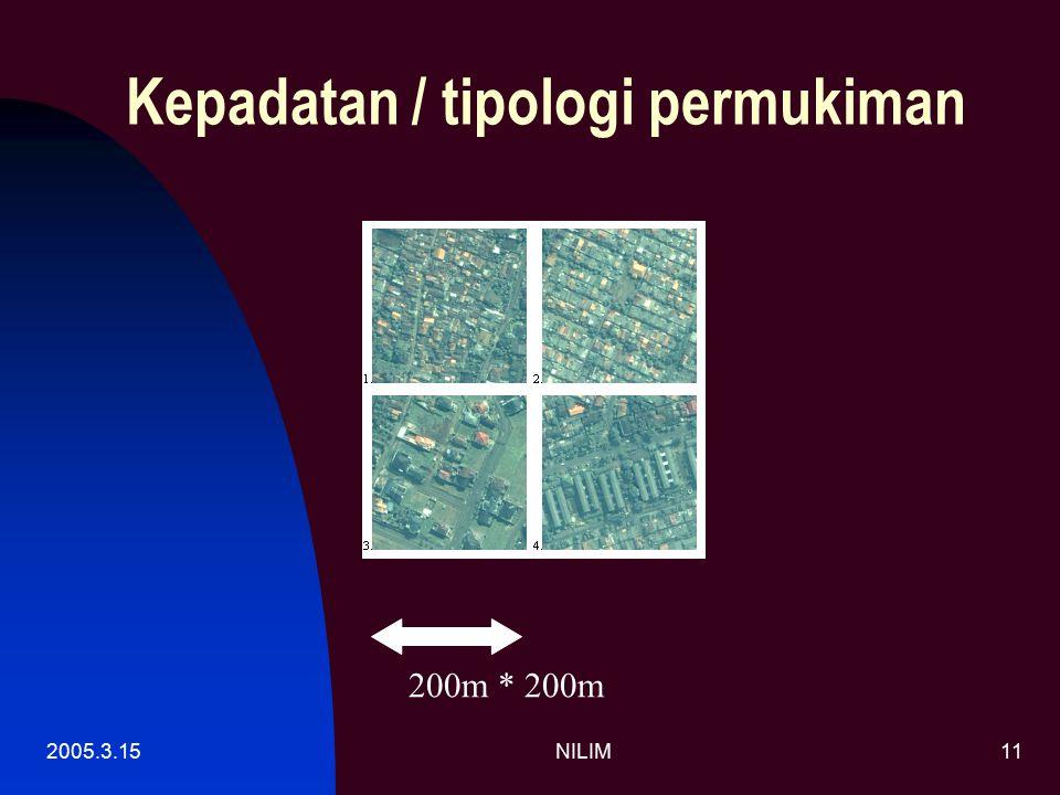 2005.3.15NILIM11 Kepadatan / tipologi permukiman 200m * 200m