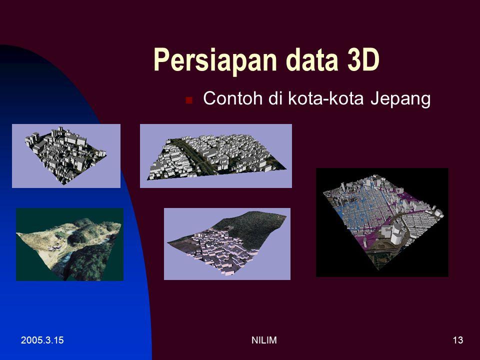 2005.3.15NILIM13 Persiapan data 3D Contoh di kota-kota Jepang