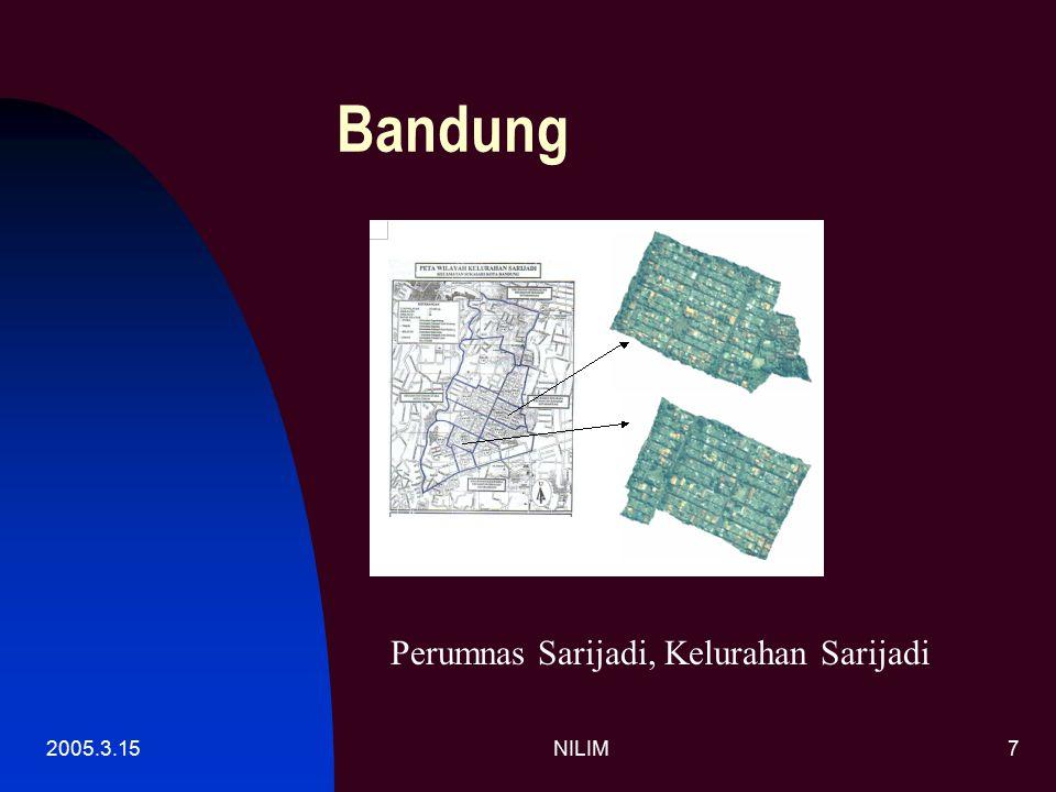 2005.3.15NILIM8 Cirebon QuickBird 0.6m/dot 2003.7.2, bebas awan Letak lokasi survai 2004/5 -Komplek Perumnas -Komplek Perumahan Griya Sunyaragi Permai