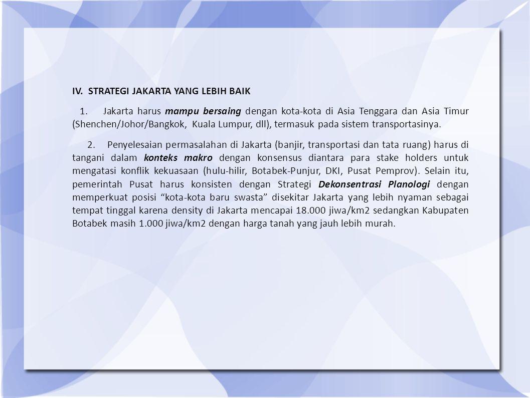 IV. STRATEGI JAKARTA YANG LEBIH BAIK 1.