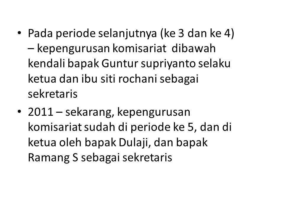 6. PERKEMBANGAN A.Jumlah komisariat dan anggota B.Organisasi Dan Kegiatan