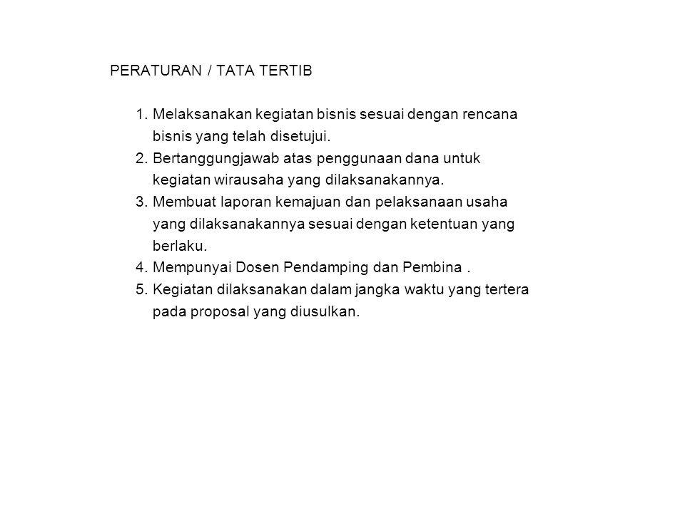 PERATURAN / TATA TERTIB 1.