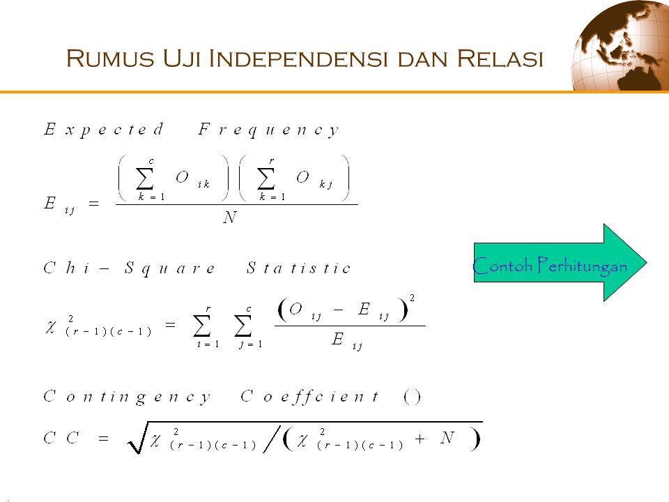 . Rumus Uji Independensi dan Relasi Contoh Perhitungan