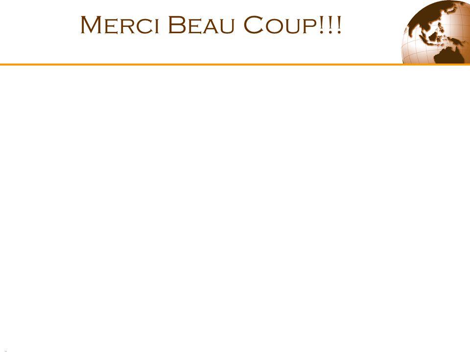 . Merci Beau Coup!!!