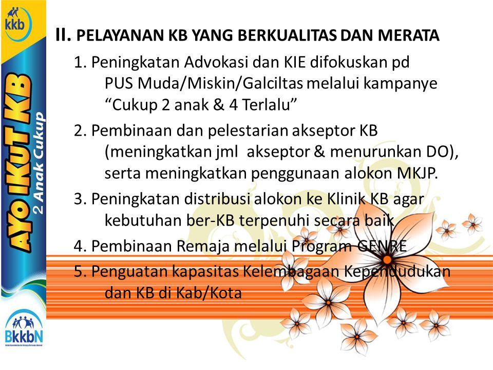 III.PENYERASIAN KEPENDUDUKAN DAN KB. 1.