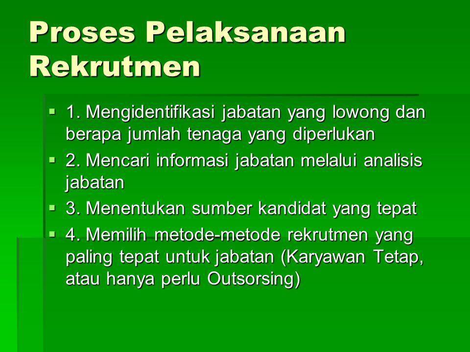 Proses Pelaksanaan Rekrutmen  1.