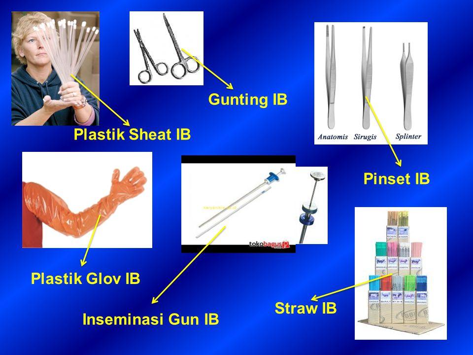 Gunting IB Pinset IB Plastik Glov IB Plastik Sheat IB Inseminasi Gun IB Straw IB