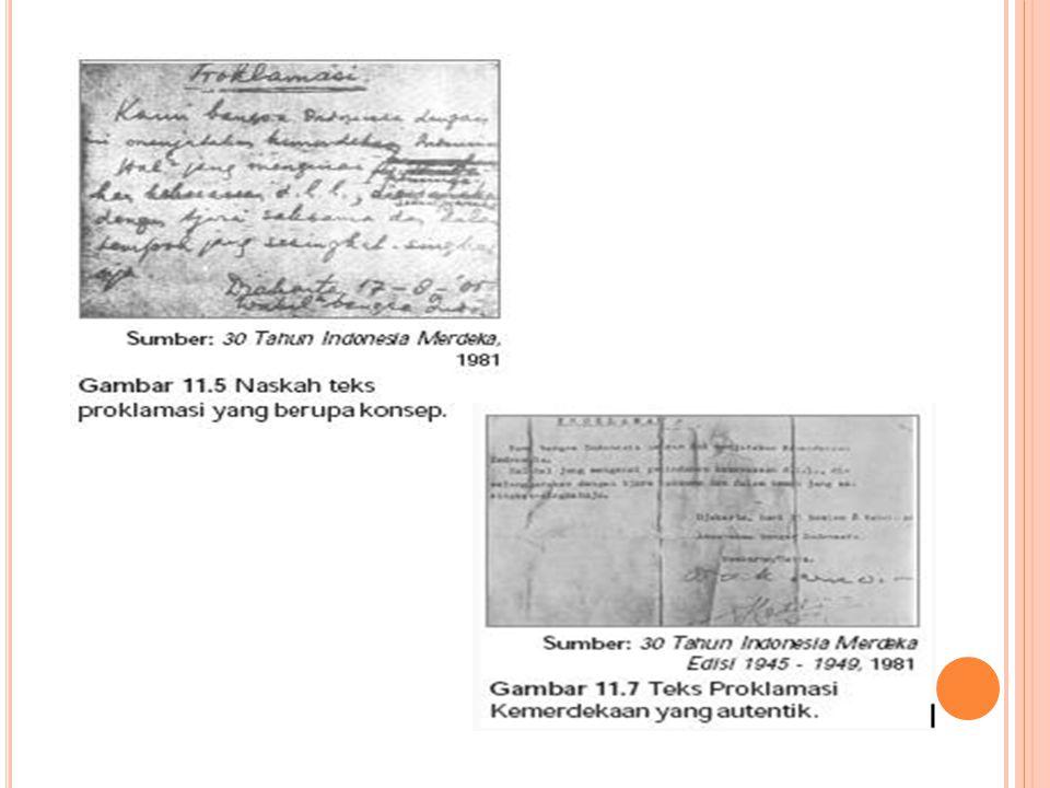 Pembacaan Naskah Proklamasi Kemerdekaan Di Lapangan IKADA ( Ikatan Atletik Djakarta ) Di Jalan Pegangsaan Timur 56 Jakarta, Hari Jumat 17 Agustus 1945 Jam 10.00 Di Kediaman Soekarno, Dr.