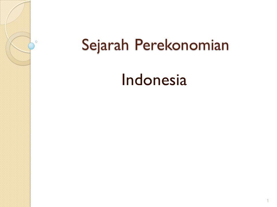 Sejarah Perekonomian 1 Indonesia
