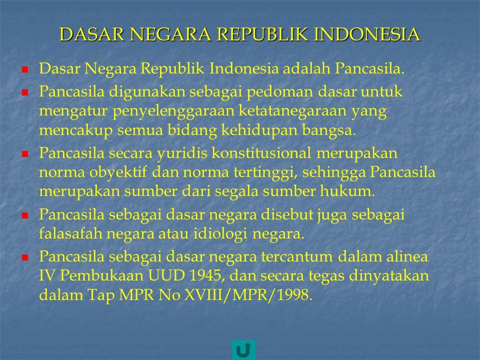 KLASIFIKASI KONSTITUSI DI INDONESIA 1)U UD 1945 2)K onstitusi RIS 1949 3)U UD Sementara 1950 Klasifikasi konstitusi yang pernah berlaku di Indonesia :