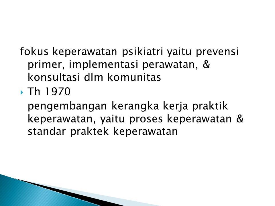  PERUBAHAN HOSPITAL BASED CARE  COMMUNITY BASED CARE, MENEKANKAN ASPEK PREVENTIF & PROMOTIF  FOKUS TIDAK HANYA MENANGANI ORANG SAKIT  JUGA PADA PENINGKATAN KUALITAS HIDUP  TENAGA KESEHATAN MEMPUNYAI STANDAR GL OBAL  PROFESIONALISME & KEAHLIAN MENJADI KUNCI  PROFESI  PENERAPAN MPKP DI RSJ & PELATIHAN CLINICAL INSTRUCTUR BAGI PSICIATRYC NURSE