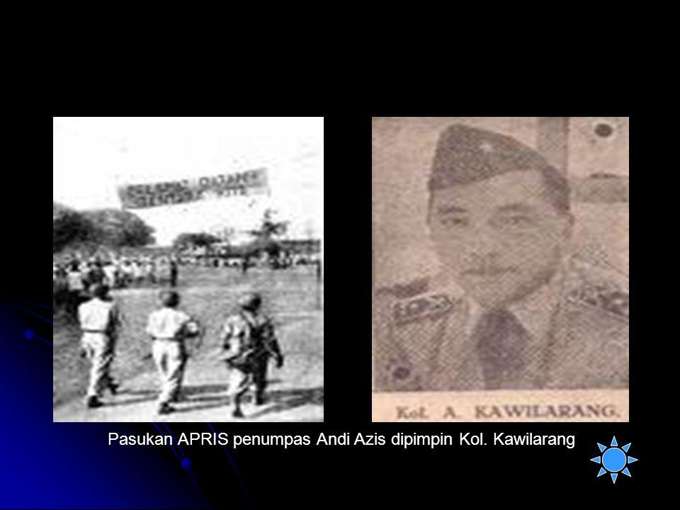 Pasukan APRIS penumpas Andi Azis dipimpin Kol. Kawilarang