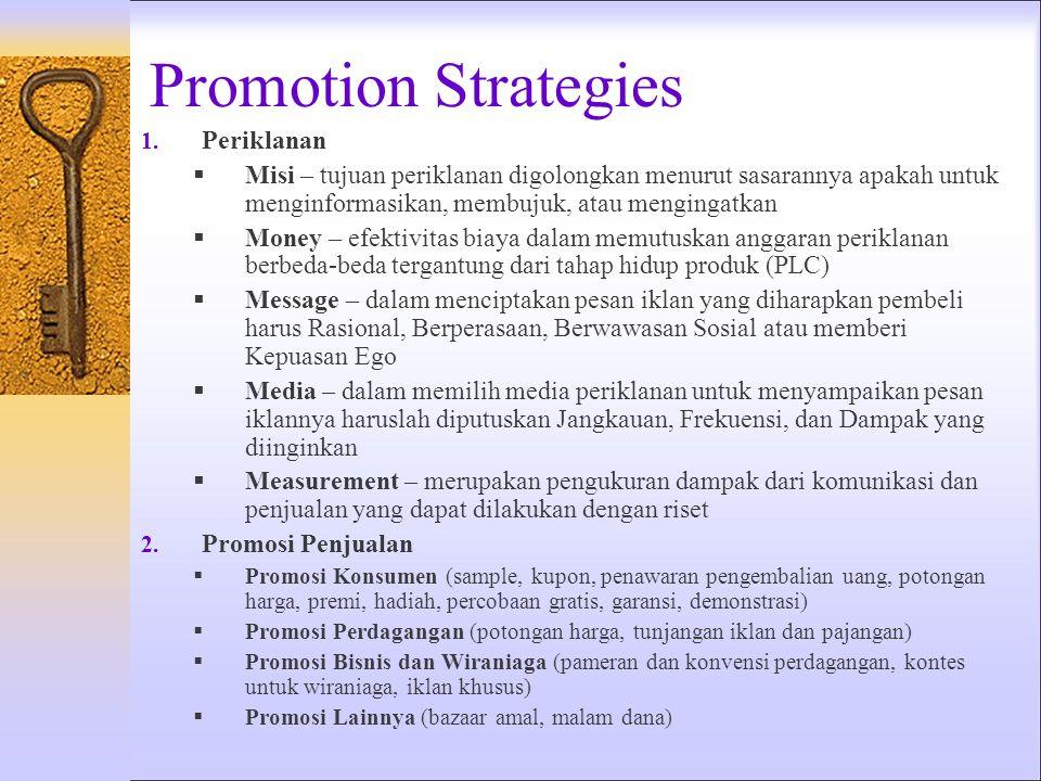 Promotion Strategies 1.