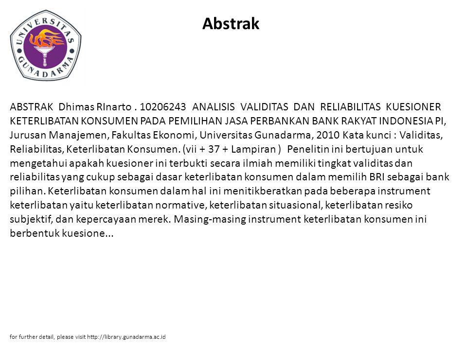 Abstrak ABSTRAK Dhimas RInarto.