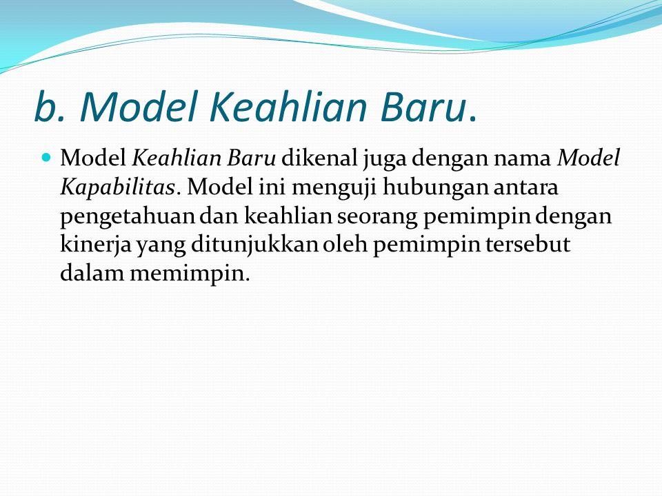 b. Model Keahlian Baru. Model Keahlian Baru dikenal juga dengan nama Model Kapabilitas. Model ini menguji hubungan antara pengetahuan dan keahlian seo