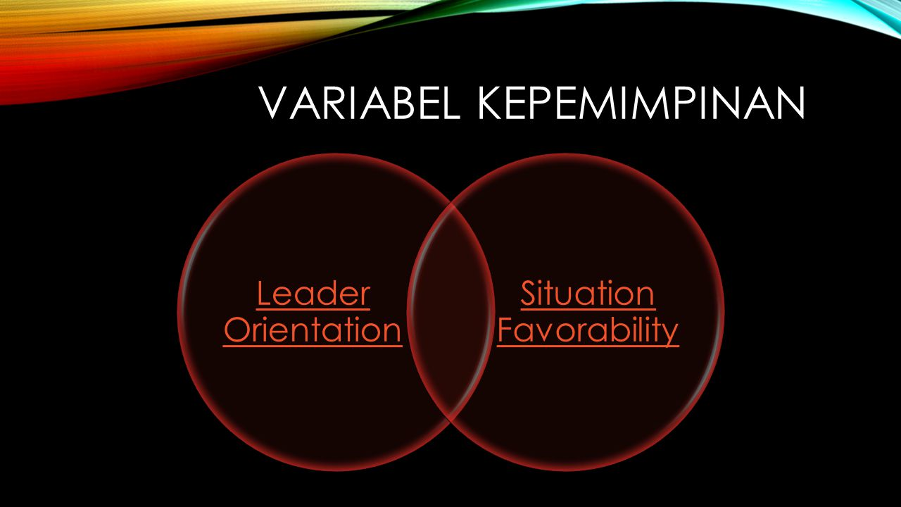 VARIABEL KEPEMIMPINAN Leader Orientation Situation Favorability