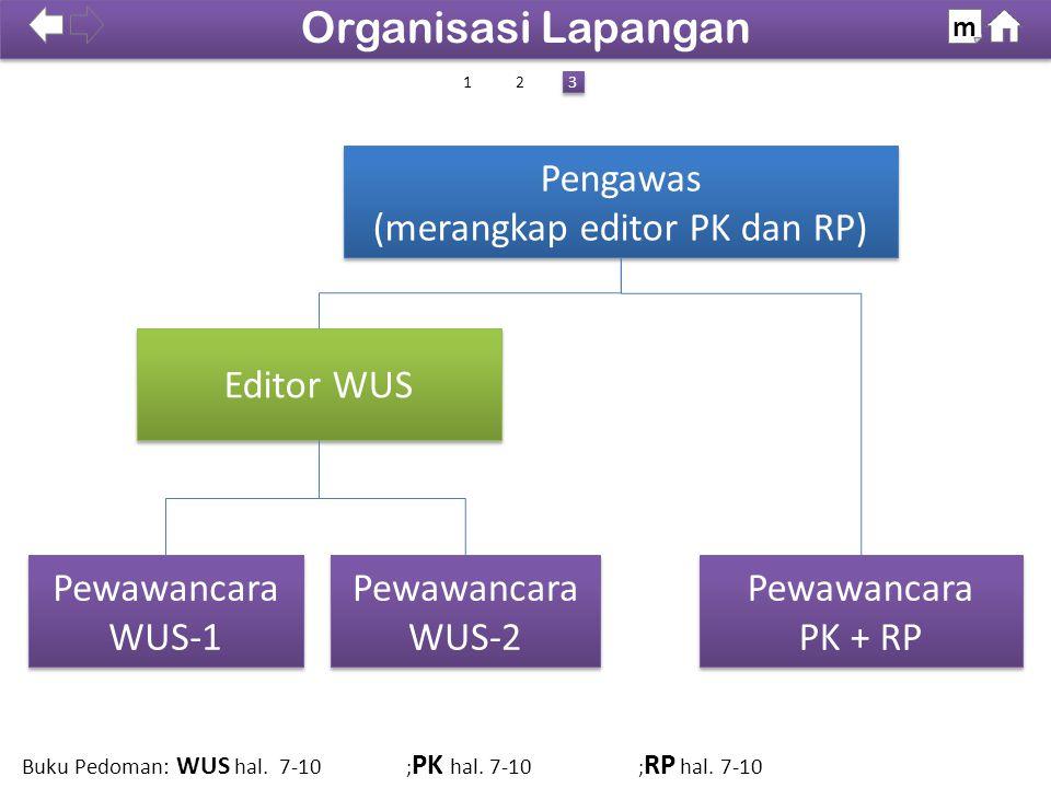 Khusus Papua & Pabar Khusus Papua & Pabar 100% SDKI 2012 Organisasi Lapangan m Buku Pedoman: WUS hal. 7-10 ; PK hal. 7-10 ; RP hal. 7-10 Pengawas (mer