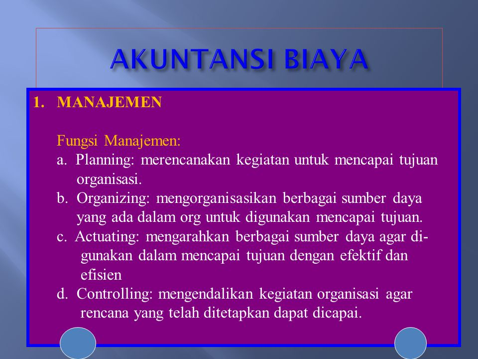 INCOME STATEMENT pada perusahaan Manufaktur PT.ABC INCOME STATEMENT FOR THE YEAR ENDED DEC.