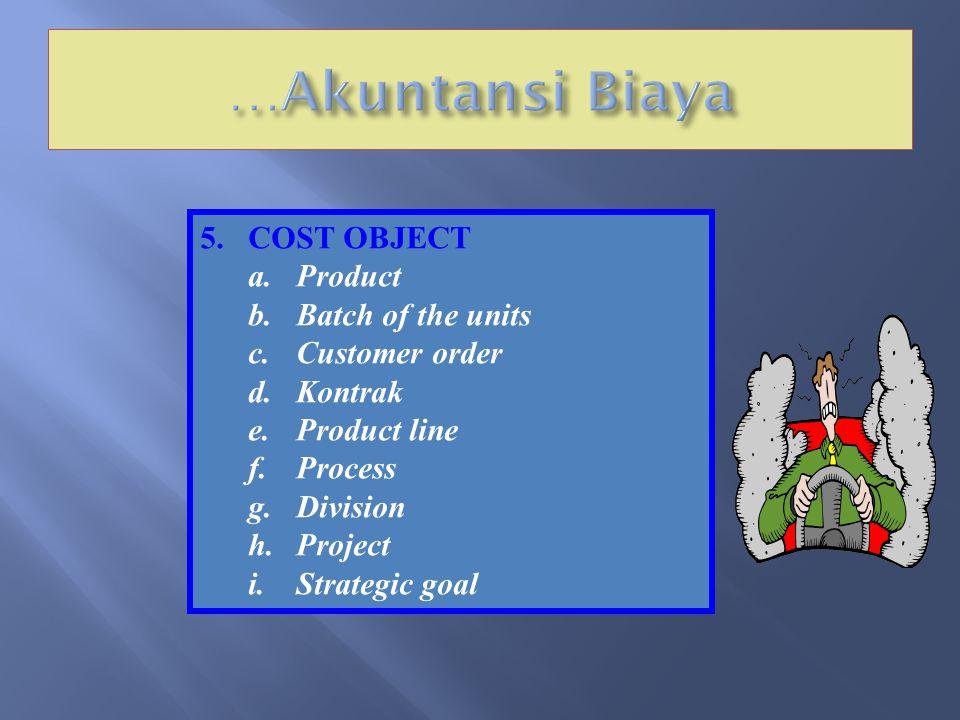 4.KONSEP COST / BIAYA Cost/biaya adalah seluruh pengorbanan sumber daya ekonomi yang digunakan untuk mencapai tujuan / untuk mendapatkan barang dan ja