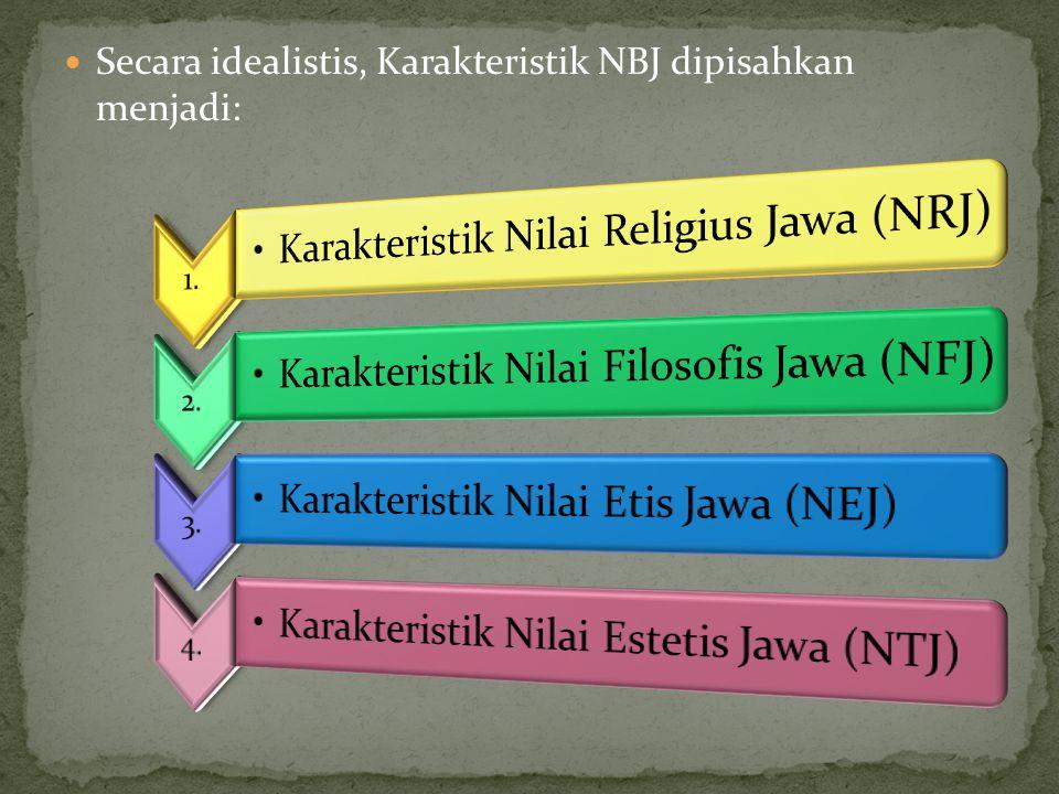 Secara idealistis, Karakteristik NBJ dipisahkan menjadi: