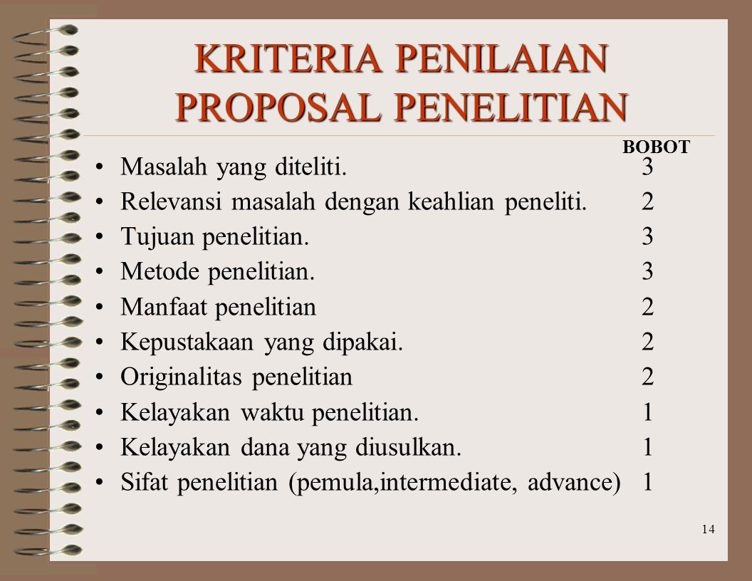 13 a Permasalahan yang akan diteliti harus dapat terungkap dengan jelas melalui perumusan lima hal berikut ini.