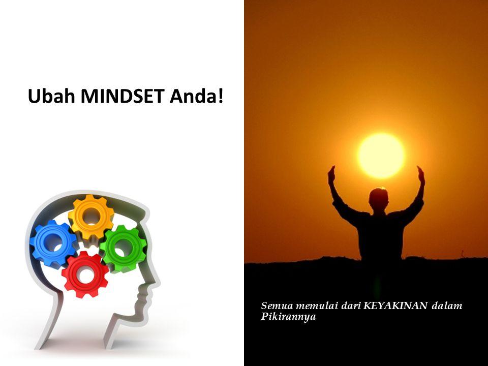 Ubah MINDSET Anda! Semua memulai dari KEYAKINAN dalam Pikirannya