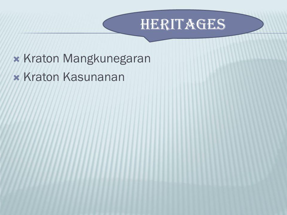  Kraton Mangkunegaran  Kraton Kasunanan HERITAGES