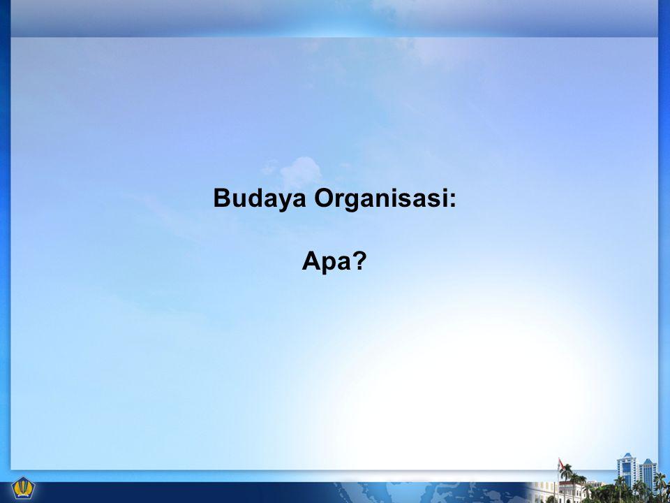 Budaya Organisasi: Apa?