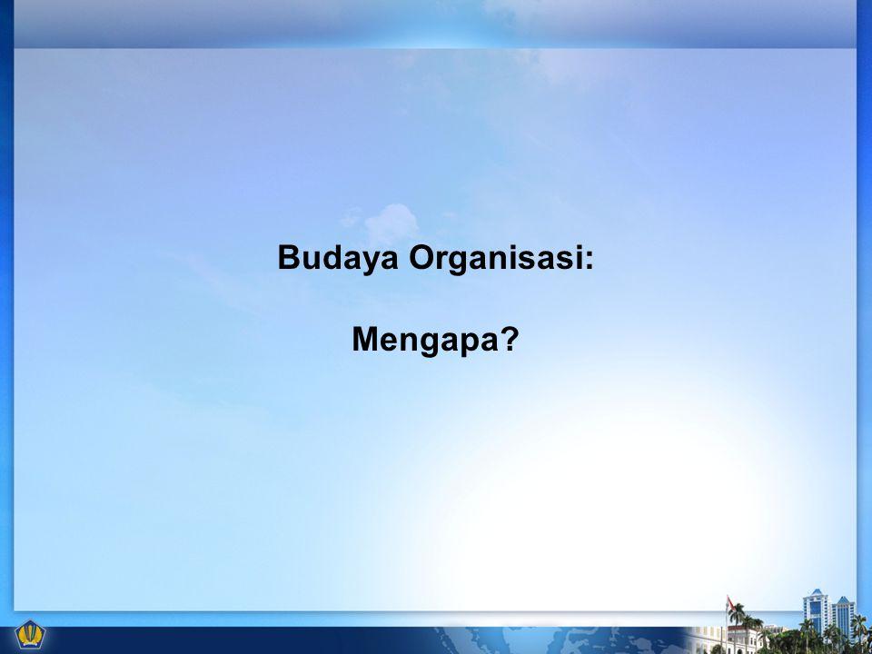 Budaya Organisasi: Mengapa?
