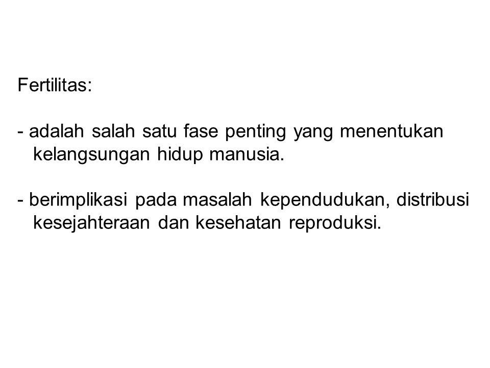 Angka kejadian infertilitas di Indonesia ± 10%.