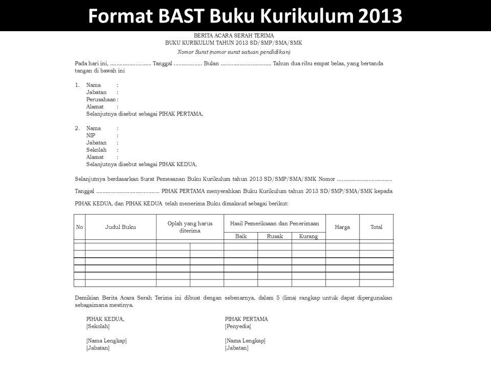 Format BAST Buku Kurikulum 2013
