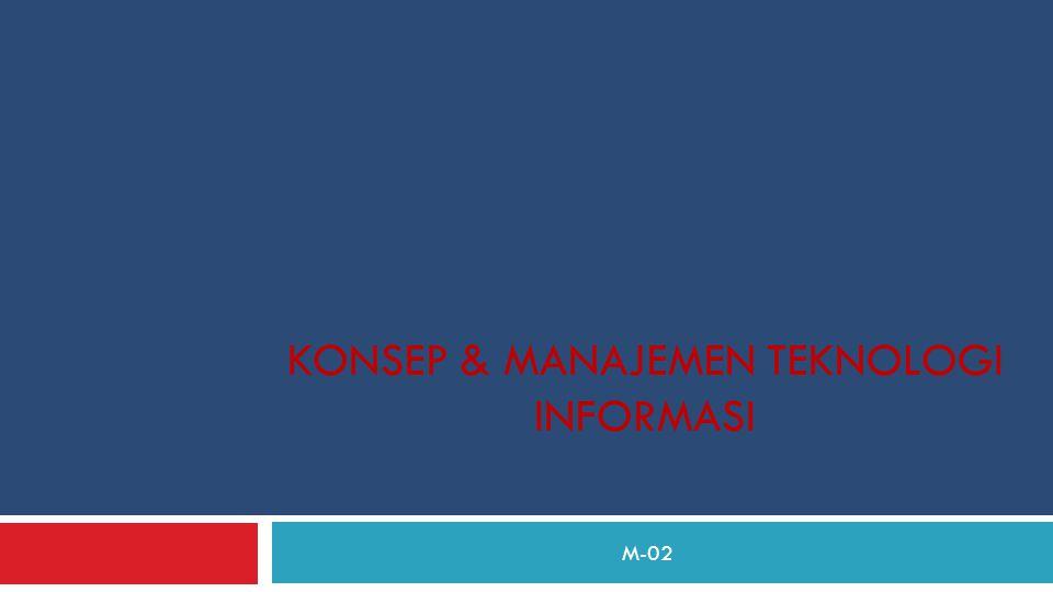 KONSEP & MANAJEMEN TEKNOLOGI INFORMASI M-02