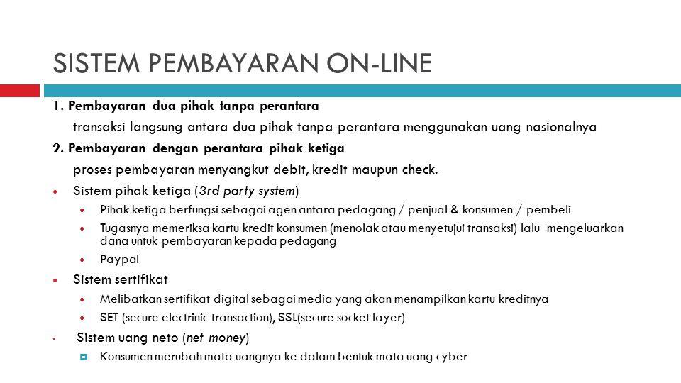 SISTEM PEMBAYARAN ON-LINE 1.