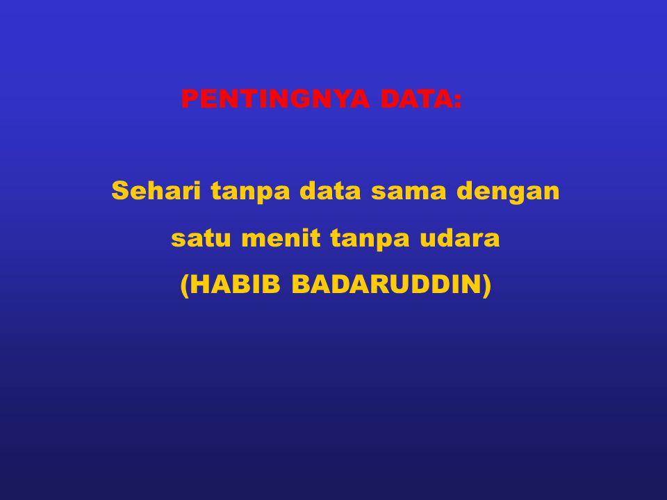 PENTINGNYA DATA: Sehari tanpa data sama dengan satu menit tanpa udara (HABIB BADARUDDIN)