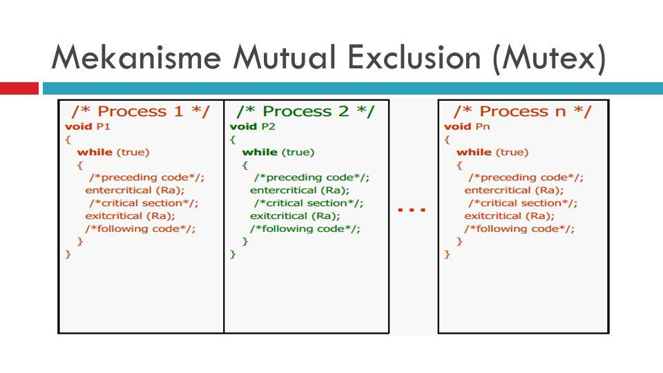 Mekanisme Mutual Exclusion (Mutex)