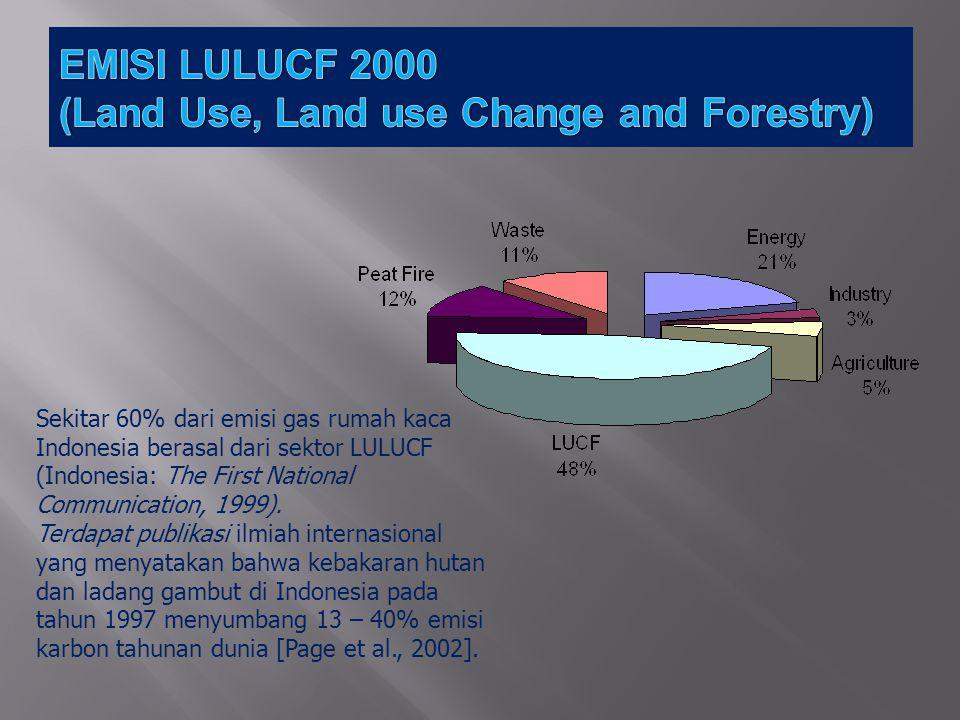 Sektor RAN-GRK (Giga ton CO 2 e) 26%Persen 15% (Total 41%) PersenTotalPersen Kehutanan dan lahan gambut 0,67287,6%0,36787,0%1,03987,4% Limbah0,0486,3%0,0307,1%0,0786,6% Pertanian0,0081,0%0,0030,7%0,0110,9% Industri0,0010,1%0,0040,9%0,0050,4% Energi and Transportasi 0,0385,0%0,0184,3%0,0564,7% Total0,767100,0%0,422100,0%1,189100,0% RAN-GRK, 2011: PERATURAN PRESIDEN REPUBLIK INDONESIA NOMOR 61 Tahun 2011 Tanggal 20 September 2011 tentang RENCANA AKSI NASIONAL PENURUNAN EMISI GAS RUMAH KACA
