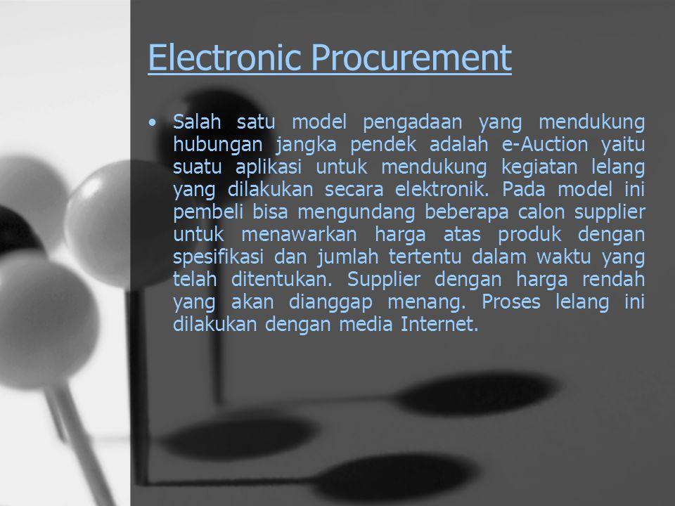 Peran Teknologi Internet Aplikasi internet dalam konteks Supply Chain Manajement yaitu : 1. Electronic Procurement ( e-Procurement ) 2. Electronic Ful