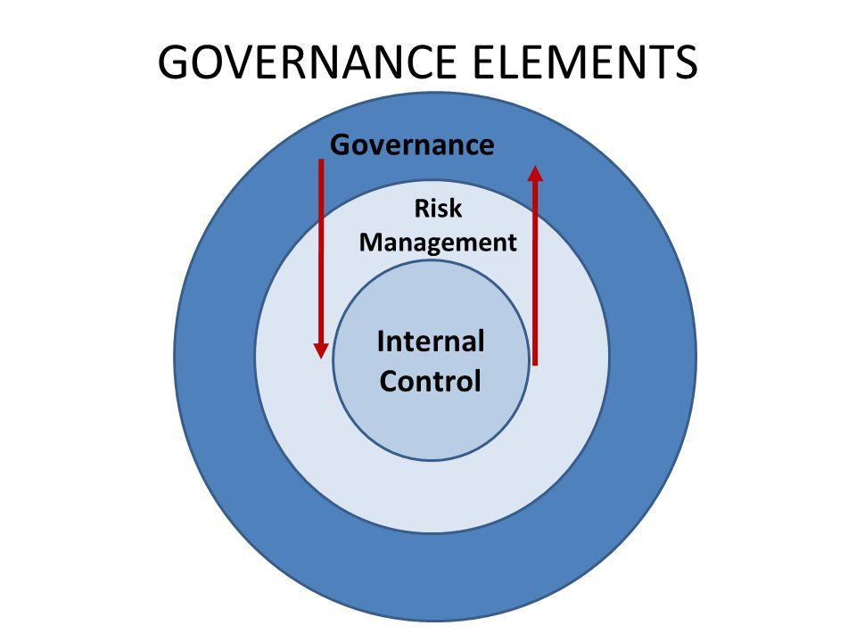 GOVERNANCE ELEMENTS Internal Control Risk Management Governance