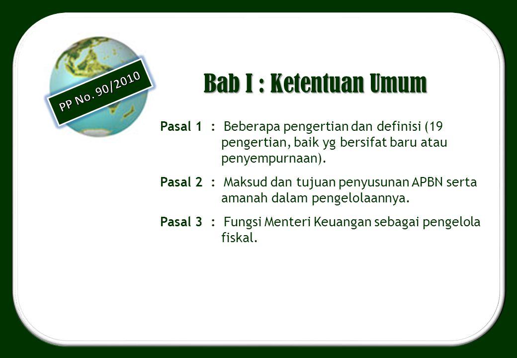 Bab I : Ketentuan Umum Pasal 1 : Beberapa pengertian dan definisi (19 pengertian, baik yg bersifat baru atau penyempurnaan). Pasal 2 : Maksud dan tuju