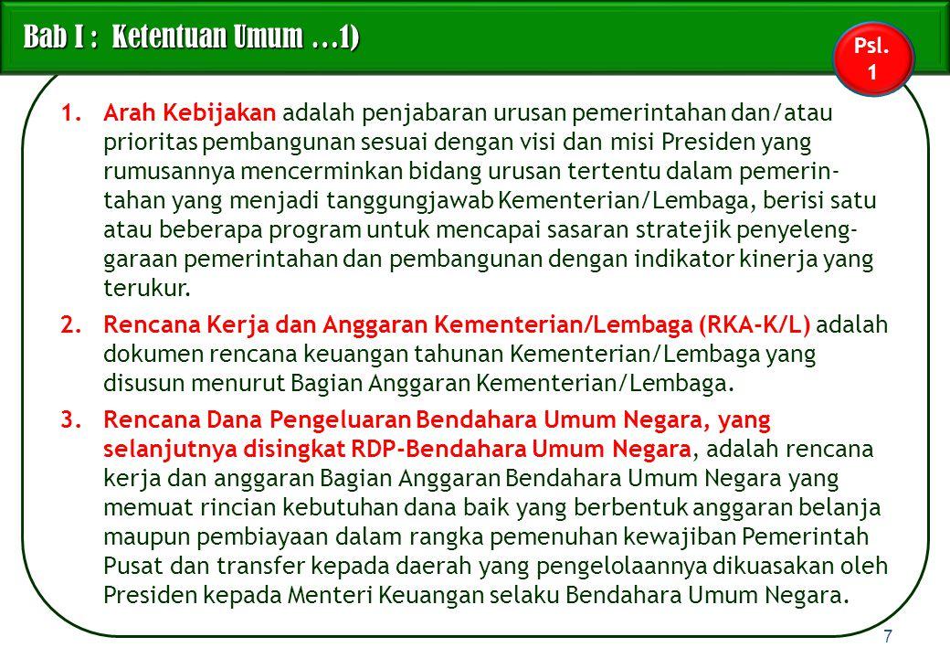 RKA-K/L Ilustrasi Perubahan RKA-K/L dalam pelaksanaan APBN Ilustrasi Perubahan RKA-K/L dalam pelaksanaan APBN 38 K/L Usul revisi Kewenangan DPR Kewenangan Pemerintah DPR DIPARKA-K/L 1.Penambahan/pengurangan pagu krn APBN-P; 2.Realokasi; 3.Perubahan yg memerlukan persetujuan DPR.