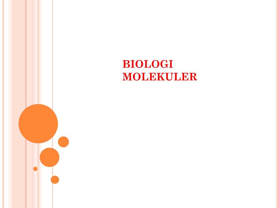 B IOLOGI MOLEKULAR ATAU BIOLOGI MOLEKUL salah satu cabang biologi yang merujuk kepada pengkajian mengenai kehidupan pada skala molekul.