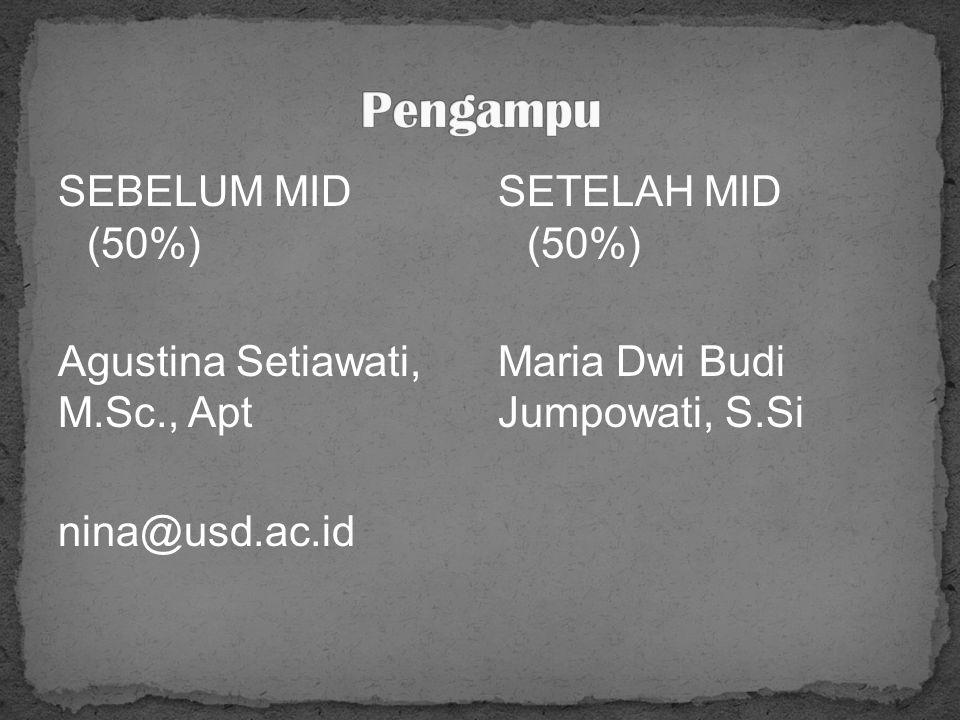 Agustina Setiawati, M.Sc., Apt
