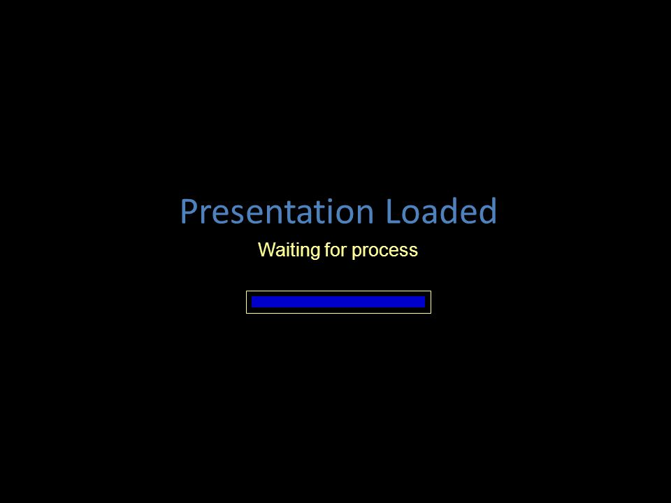 Presentation Loaded Waiting for process