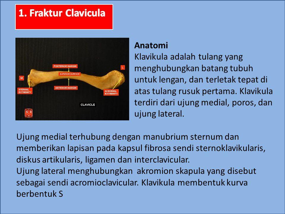 Prevalensi  Fraktur klavikula terjadi 30-60 kasus per 100.000 per tahun dan 2,6-5% dari semua patah tulang.