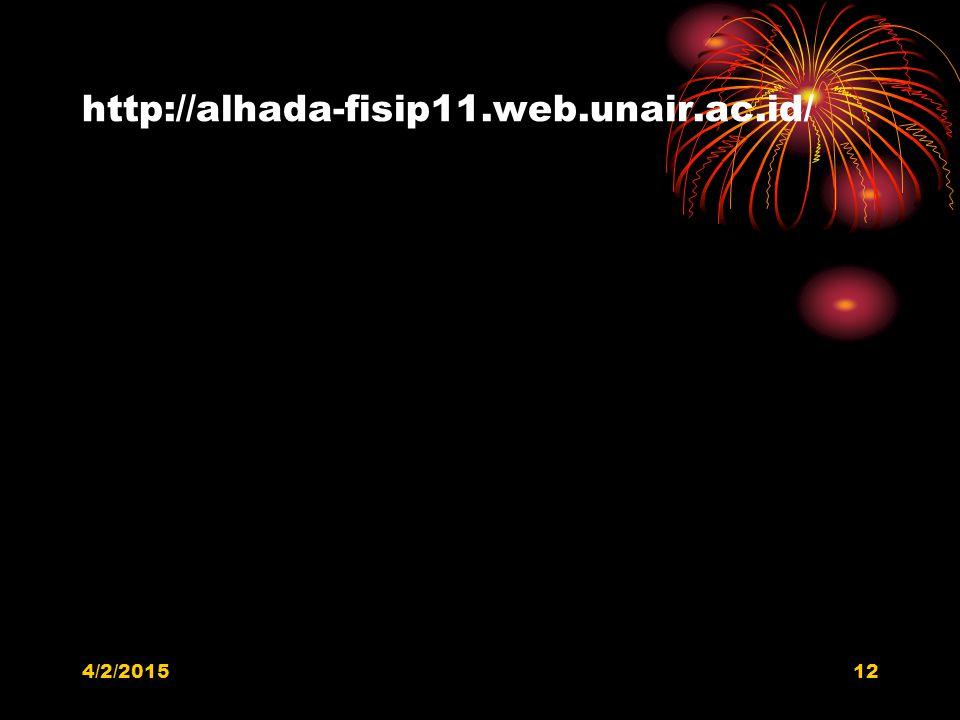 http://alhada-fisip11.web.unair.ac.id/ 4/2/201512