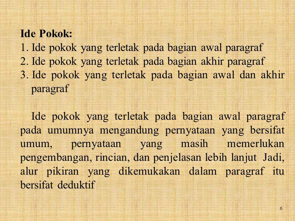 17 Contoh: 1)Kota Yogyakarta dikenal juga sebagai kota pelajar.