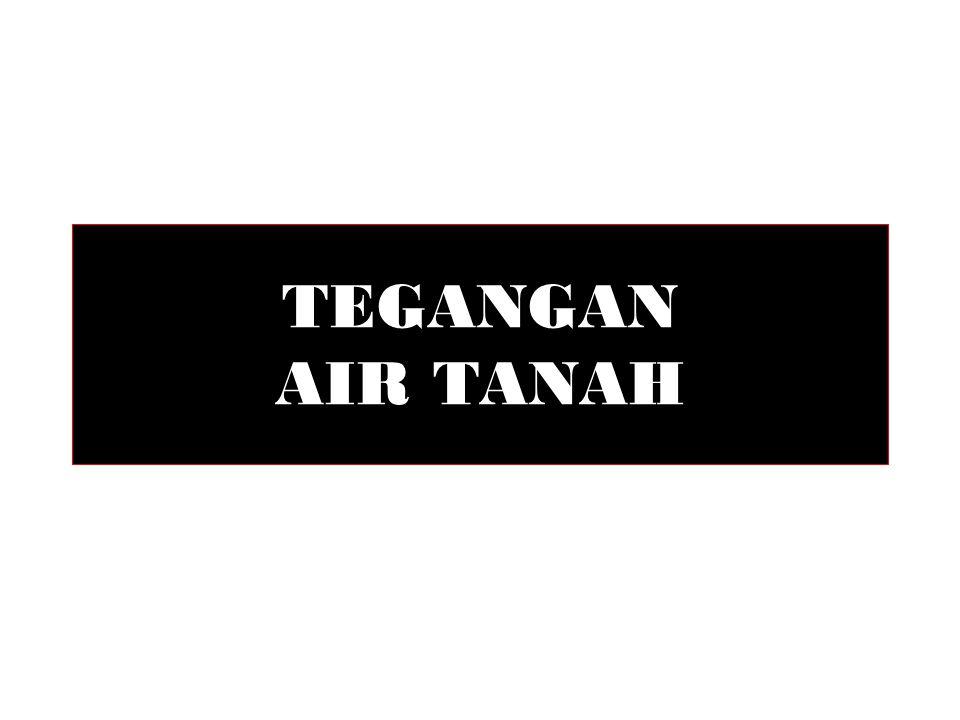 TEGANGAN AIR TANAH