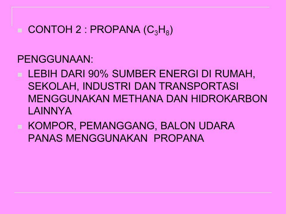 NAMARUMUS KIMIA RUMUS STRUKTURAL METHANACH 4 ETHANAC2H6C2H6 PROPANAC3H8C3H8 BUTANAC 4 H 10 PENTANAC 5 H 12