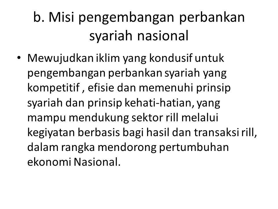 c.Pentahapan pencapaian sasaran pengembangan perbankan syariah nasional ( Blueprint ) 1.