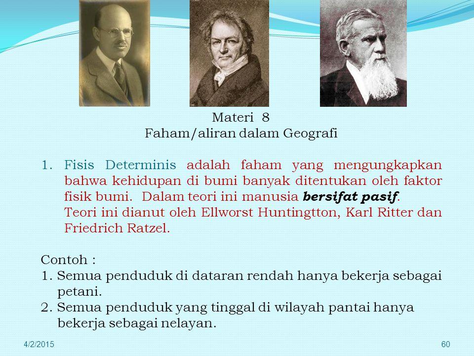 """4/2/201559 Erathotenes Yang pertama kali menggunakan istilah geografi dalam bukunya """" Geographica """". Sehingga disebut Bapak Geografi."""
